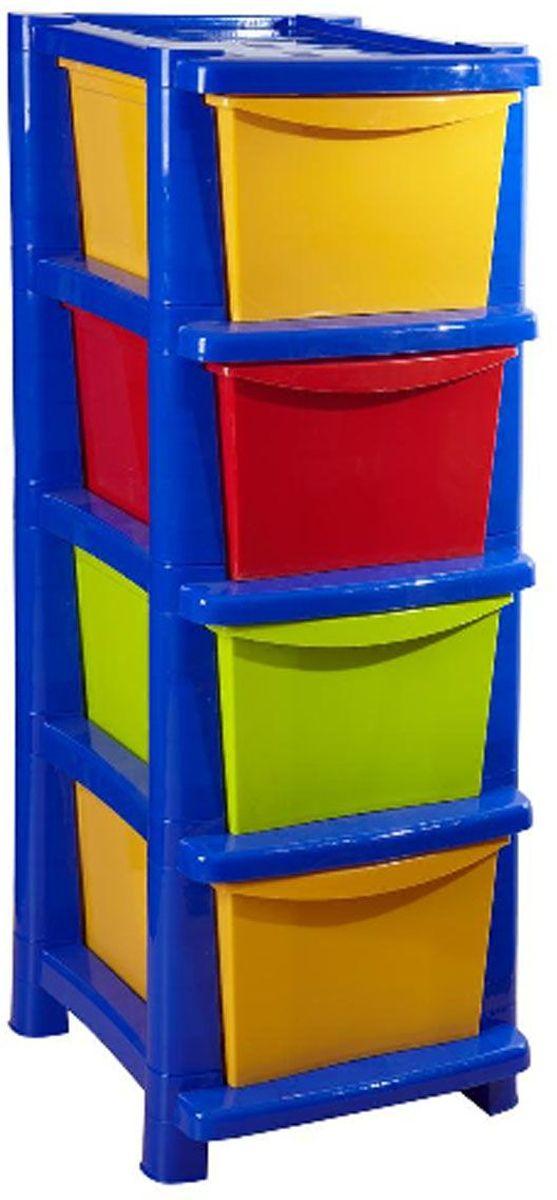 Вместительный, современный и удобный дизайн комода идеально подойдет для детской комнаты. Сглаженные углы и облегченная конструкция комода безопасны даже для самых активных малышей. Яркие цвета комода станут прекрасным дополнением для детской комнаты.