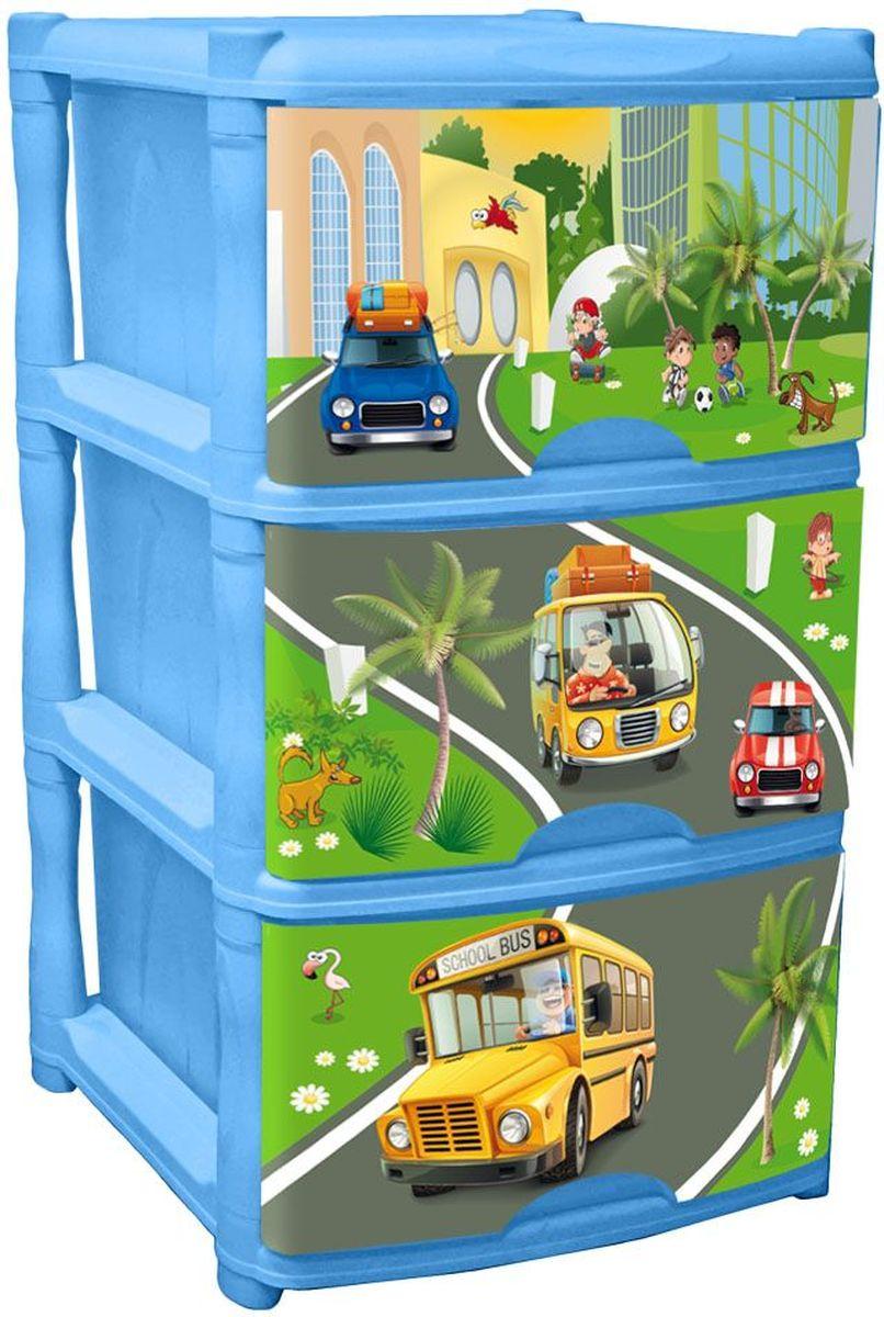 Little Angel Детский комод City Cars Tutti 3 ящика цвет голубойLA4713BSОчаровательный дизайн с машинками в солнечном городе создан специально для малышей. Разные машинки понравятся детям и их родителям и помогут изучить мир.Новый комод Tutti выполнен в голубом цвете. Каждый ящик комода имеет свой уникальный декор, а вместе они составляют неповторимую композицию.Сглаженные углы и облегченная конструкция комода безопасна даже для самых активных малышей.