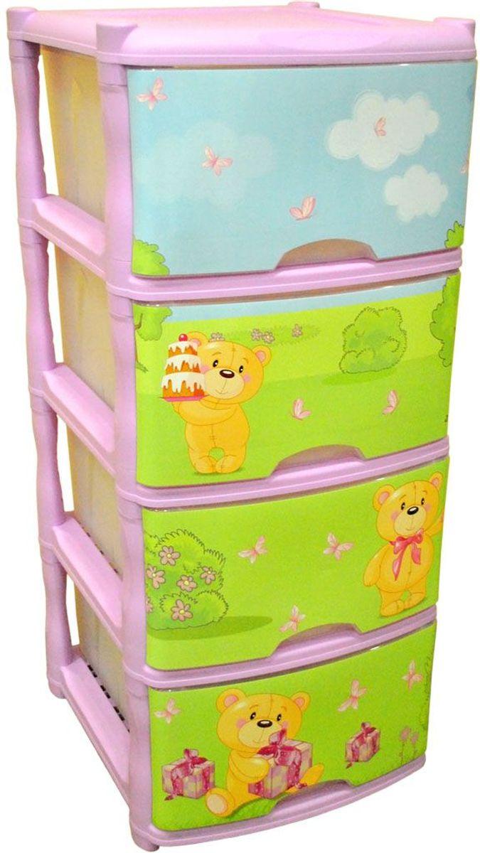 Little Angel Детский комод Bears Tutti 4 ящика цвет лавандовыйLA4714LVВместительный, современный и удобный дизайн комода идеально подойдет для детской комнаты. Сглаженные углы и облегченная конструкция комода безопасны даже для самых активных малышей. Спокойные пастельные цвета комода станут прекрасным дополнением для детской комнаты.