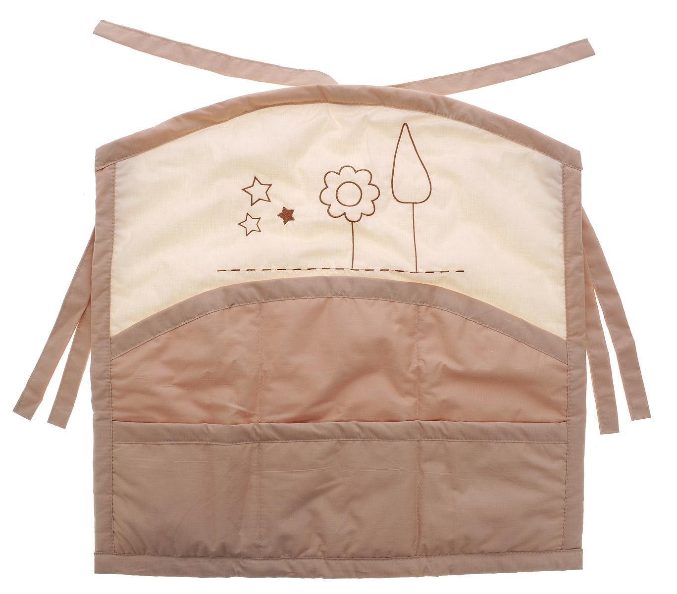 Fairy Карман на кроватку Я и моя мама 57 см х 58 см сумка для пеленок и подгузников fairy я и моя мама цвет бежевый 50 см х 40 см