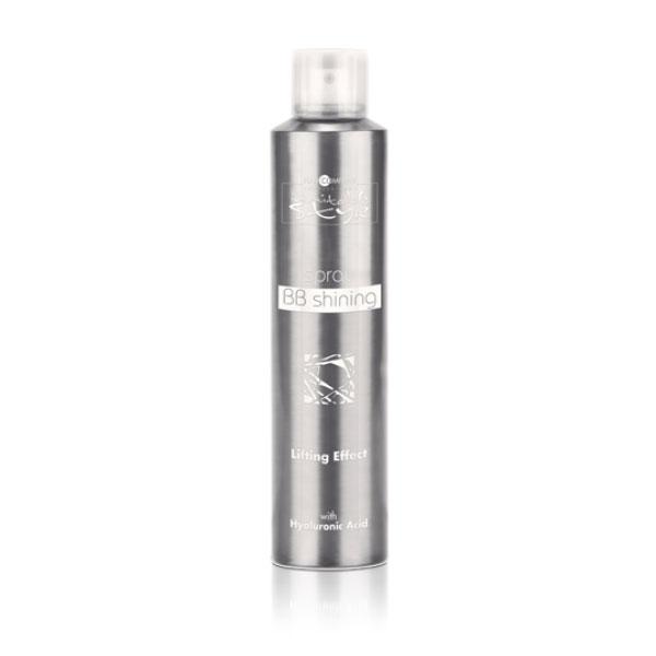 Hair Company Спрей-блеск Professional Inimitable Style BB Shining 250 млSatin Hair 7 BR730MNInimitable STYLE BB Shining Увлажняет, придает блеск и защищает волосы от солнечных лучей. Антивозростная формула продукта! Спрей-блеск обогащен маслами Арганы и Макадамии, а так же экстрактам Кассии Узколистной, которая является заменителем гиалуроновой кислоты. УФ-фильтр и Витамин Е прекрасно справляются с пагубным воздействием солнечных лучей.Активный состав: Масла Арганы и Макадамии, Экстракт Кассии Узколистной, УФ-фильтр, Витамин Е.
