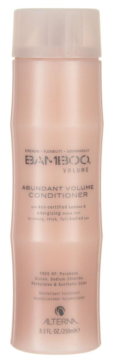 Alterna Кондиционер для объема Bamboo Abundant Volume Conditioner - 250 млE0527584Кондиционер для придания волосам объема Alterna Bamboo Volume Abundant Volume Conditioner с чистым экстрактом бамбука укрепляет волосы, а благодаря экстракту корневищ перуанского женьшеня, обладающим стимулирующими свойствами и богатым фито-питательными элементами, насыщает волосы жизненной силой и укрепляет их, а изнутри помогает увеличить объем волос по всем трем аспектам: полнота, толщина и прикорневой объем.Результат: Кондиционер насыщает волосы энергией и необходимыми жизненно важными питательными веществами, увлажняя и придавая вашим волосам невероятный объем. Благодаря применению Alterna Bamboo Volume Abundant Volume Conditioner, ваши волосы будут выглядеть пышными, получат нужный объем и обновленный вид.