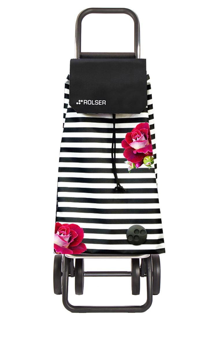 Сумка хозяйственная Rolser, на колесиках, цвет: белый, черный, малиновый, 59 л09840-20.000.00Алюминиевая тележка для покупок Rolser с 4 колесами, быстро трансформируется с 2 на 4 колеса. Колеса выполнены из резины EVA. Складываемая передняя подставка, занимает минимальное место в сложенном виде при хранении. Сумка имеет форму рюкзака, ткань полиэстер, влагоустойчивая, имеет удобное закрытие сумки и легко крепиться на раме. Тележка не складывается. Объем: 59 л. Диаметр колес: 14 см. Рекомендованная нагрузка: 25 кг.Чистка ручная или химчистка.