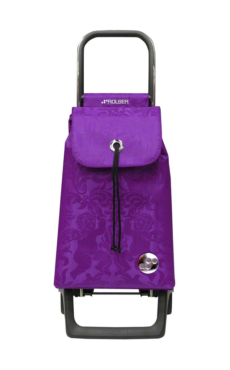 Сумка хозяйственная Rolser, на колесиках, цвет: фиолетовый, 36 л41619Алюминиевая тележка для покупок Rolser с 2 колесами. Колеса выполнены из резины EVA. Эргономичная ручка, складываемая передняя подставка. Сумка имеет форму рюкзака, ткань полиэстер, влагоустойчивая. Тележка не складывается. Объем: 36 л. Диаметр колес: 13,2 см. Рекомендованная нагрузка: 25 кг.Чистка ручная или химчистка.