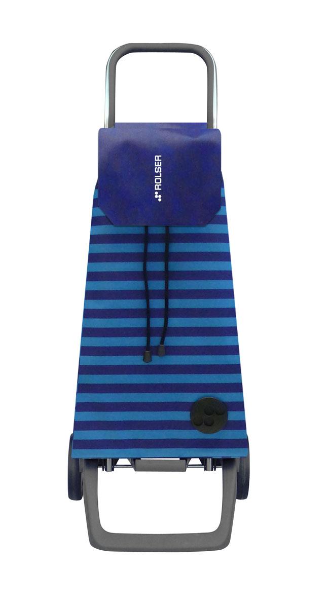 Сумка хозяйственная Rolser, на колесиках, цвет: синий, 45 лGC220/05Алюминиевая тележка для покупок Rolser с 2 колесами. Колеса выполнены из резины EVA. Эргономичная ручка, складываемая передняя подставка. Сумка имеет форму рюкзака, ткань полиэстер, влагоустойчивая. Тележка не складывается. Объем: 45 л. Диаметр колес: 13,2 см. Рекомендованная нагрузка: 25 кг.Чистка ручная или химчистка.