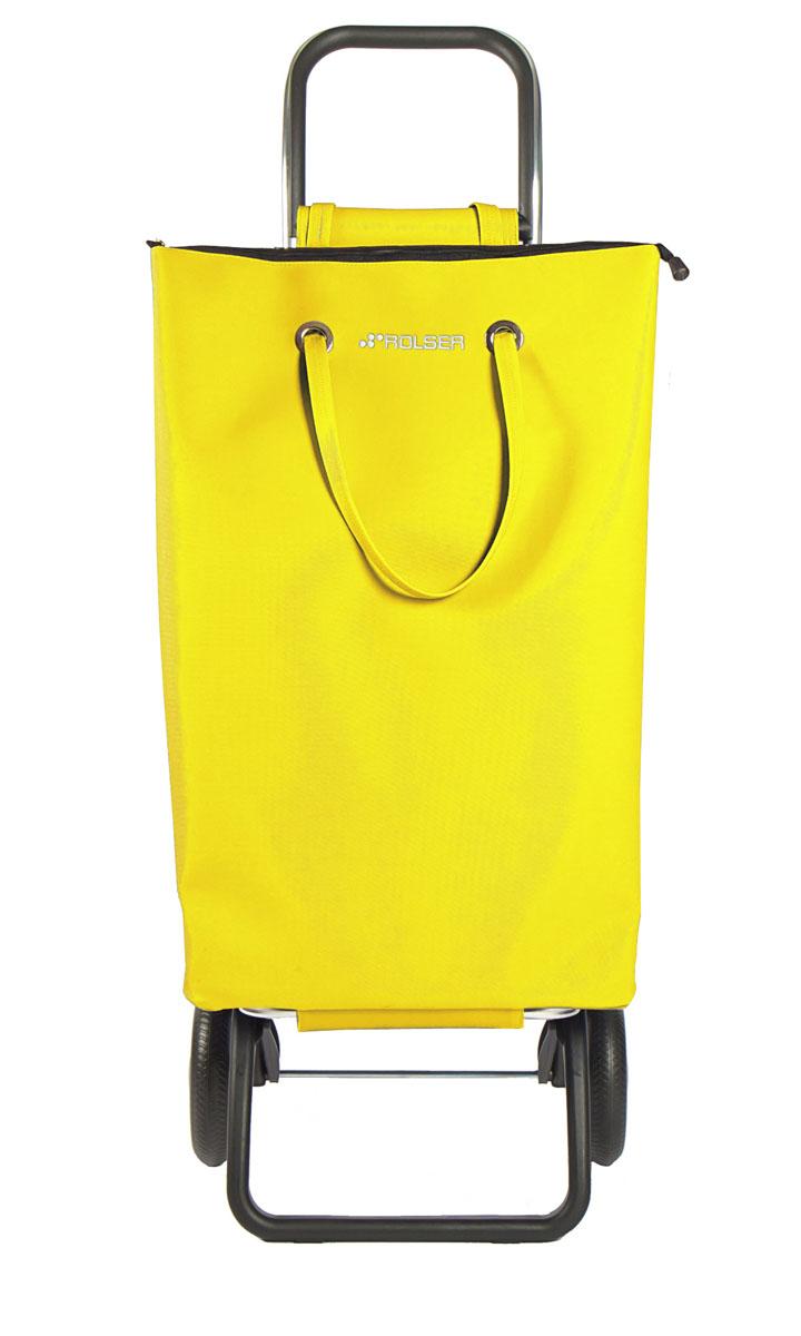 Сумка хозяйственная Rolser, на колесиках, цвет: желтый, 50 лSUP001 amarilloАлюминиевая тележка для покупок Rolser с 2 колесами. Можно использовать как ручную кладь в самолете и носить отдельно от рамы, есть внутренний карман, сумка закрывается на молнию. Легкое крепление к раме на липучке. Два типа сложения: двойное сложение рамы и передней подставки, занимает минимальное место в сложенном виде при хранении, имеет специальное устройство для прикрепления к тележке супермаркета. Колеса выполнены из резина EVA. Ткань полиэстер, влагоустойчивая. Тележка складывается. Объем: 50 л. Диаметр колес: 16,5 см. Рекомендованная нагрузка: 25 кг.Чистка ручная или химчистка.