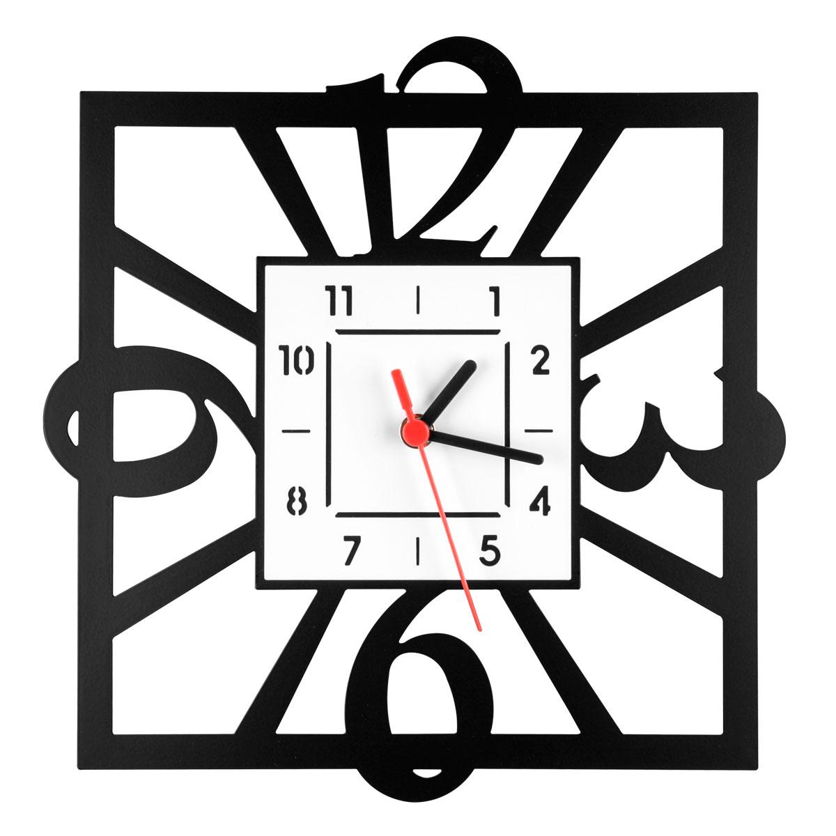 Часы настенные Miolla Квадратные, цвет: белый, черный94672Оригинальные настенные часы круглой формы выполнены из стали. Часы имеют три стрелки - часовую, минутную и секундную и циферблат с цифрами. Необычное дизайнерское решение и качество исполнения придутся по вкусу каждому. Оформите свой дом таким интерьерным аксессуаром или преподнесите его в качестве презента друзьям, и они оценят ваш оригинальный вкус и неординарность подарка.