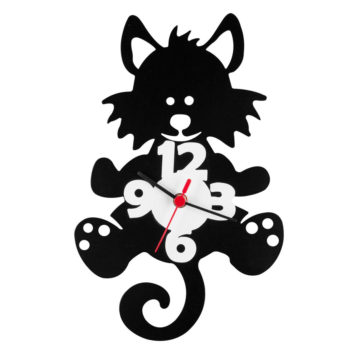 Часы настенные Miolla Котик94672Оригинальные настенные часы круглой формы выполнены из стали. Часы имеют три стрелки - часовую, минутную и секундную и циферблат с цифрами. Необычное дизайнерское решение и качество исполнения придутся по вкусу каждому.Часы работают от 1 батарейки типа АА напряжением 1,5 В.