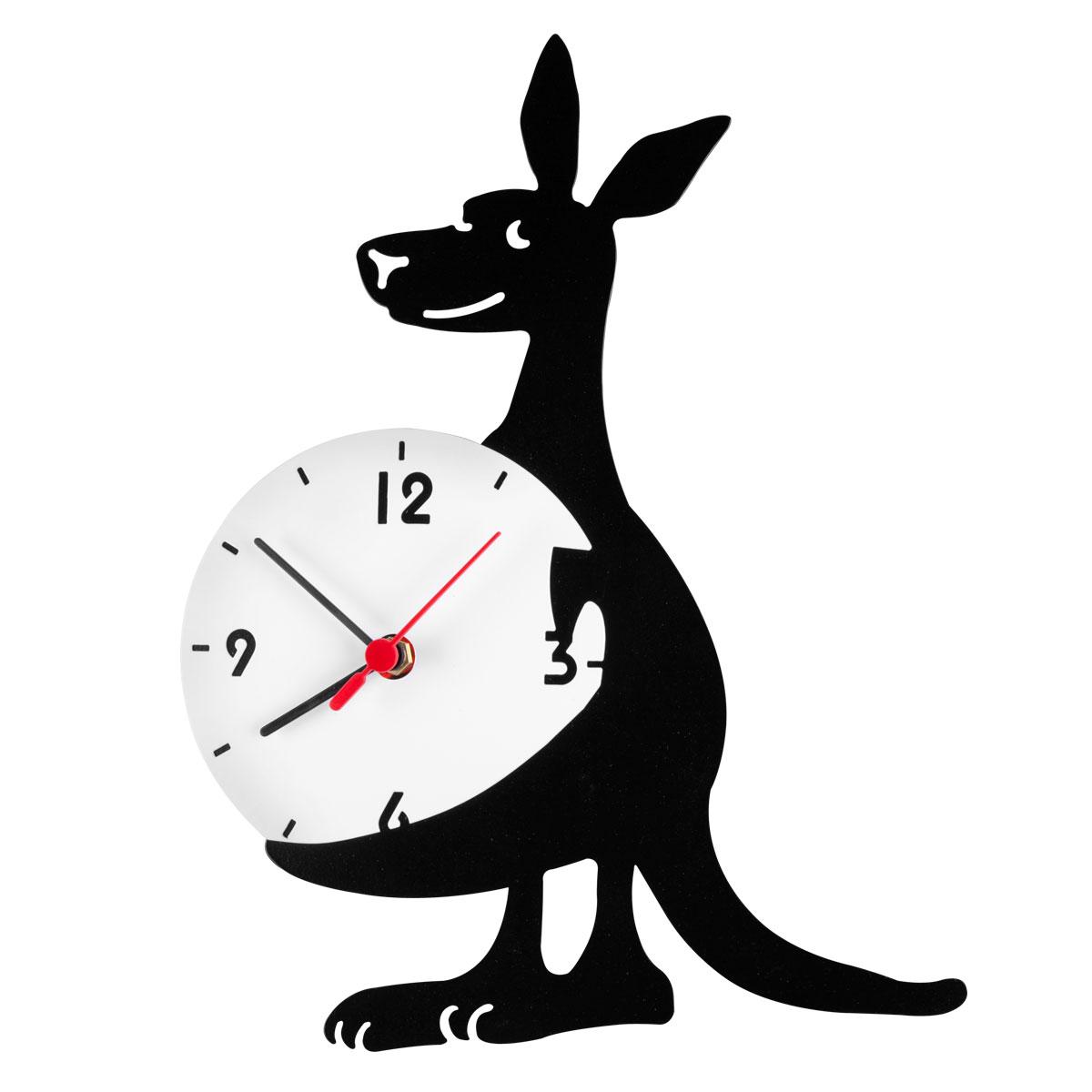 Часы настенные Miolla КенгуруSC - 25LОригинальные настенные часы круглой формы выполнены из стали. Часы имеют три стрелки - часовую, минутную и секундную и циферблат с цифрами. Необычное дизайнерское решение и качество исполнения придутся по вкусу каждому.Часы работают от 1 батарейки типа АА напряжением 1,5 В.