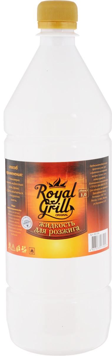 Жидкость для розжига RoyalGrill, 1 л80-040Жидкость RoyalGrill предназначена для розжига древесного угля, дров и брикетов на открытом воздухе. Способ применения: 1. Равномерно полить жидкостью уголь, дрова.2. Дать впитаться.3. Аккуратно разжечь.Меры предосторожности:Беречь от детей. Избегать попадания в глаза и на кожу. Хранить вдали от открытого огня, прямых лучей солнца и нагревательных приборов.Состав: смесь жидких парафинов.Уважаемые клиенты!Обращаем ваше внимание на возможные изменения в дизайне упаковки. Качественные характеристики товара остаются неизменными. Поставка осуществляется в зависимости от наличия на складе.