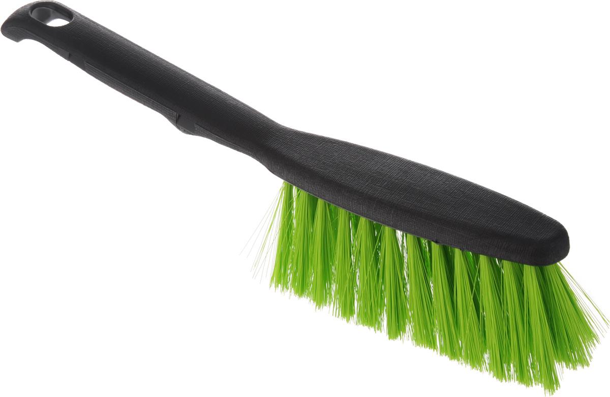 Щетка-сметка Centi Clip, цвет: черный, салатовый, длина 26 смK100Щетка-сметка Centi Clip, изготовленная из прочного пластика и сложных полимеров, оснащена специальнымотверстием для подвешивания. Изделие станет незаменимым помощником в деле удаления пыли и мусора сразличных поверхностей. Эластичный жесткий ворс на щетке не оставит от грязи и следа. Длина ворса: 5 см.Размер рабочей части: 13 х 5 х 5 см. Длина щетки: 26 см.