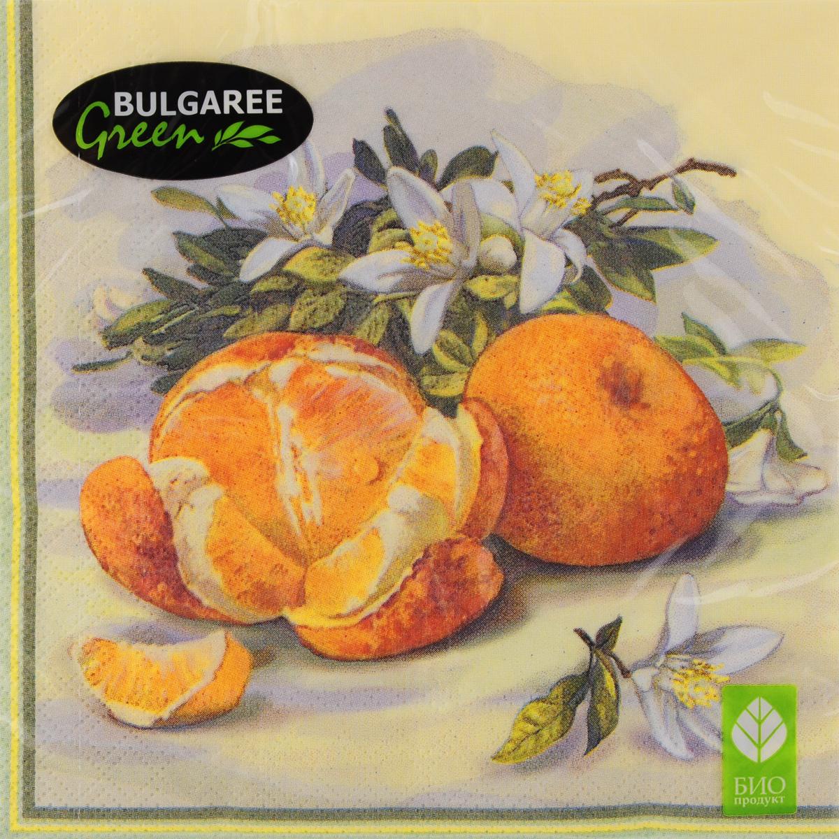 Салфетки бумажные Bulgaree Green Апельсины, трехслойные, 33 х 33 см, 20 шт531-326Декоративные трехслойные салфетки Bulgaree Green Апельсинывыполнены из 100%целлюлозы европейского качества и оформлены ярким рисунком. Изделиястанут отличнымдополнением любого праздничного стола. Они отличаются необычноймягкостью,прочностью и оригинальностью.Размер салфеток в развернутом виде: 33 х 33 см.
