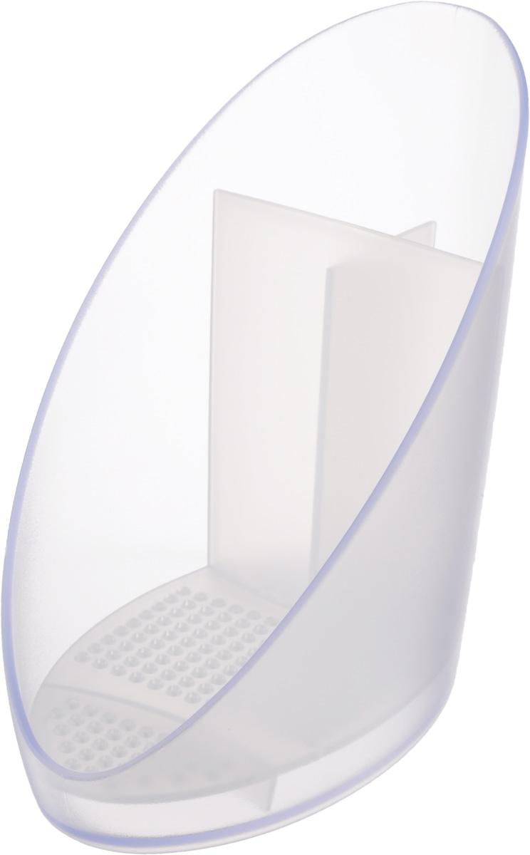 Сушилка для щетки и губки Tescoma Clean Kit897422Сушилка Tescoma Clean Kit выполнена из высококачественного прочного пластика. Отлично подходит для хранения и сушки щетки и губки. Со съемным вкладышем для легкой очистки. Изделие имеет 1 секцию для хранения губки и 2 секции для щеток.Можно мыть в посудомоечной машине.