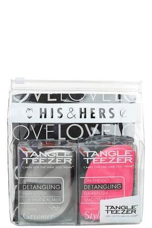 Tangle Teezer Набор расчесок для волос Compact Styler His&Hers372651Tangle Teezer – оригинальная профессиональная расческа для расчесывания волос, которая позволит вам с легкостью всего за одну минуту без рывков и напряжения расчесать мокрые, уязвимые или окрашенные волосы не нарушая структуру волос и не причиняя себе дискомфорта.