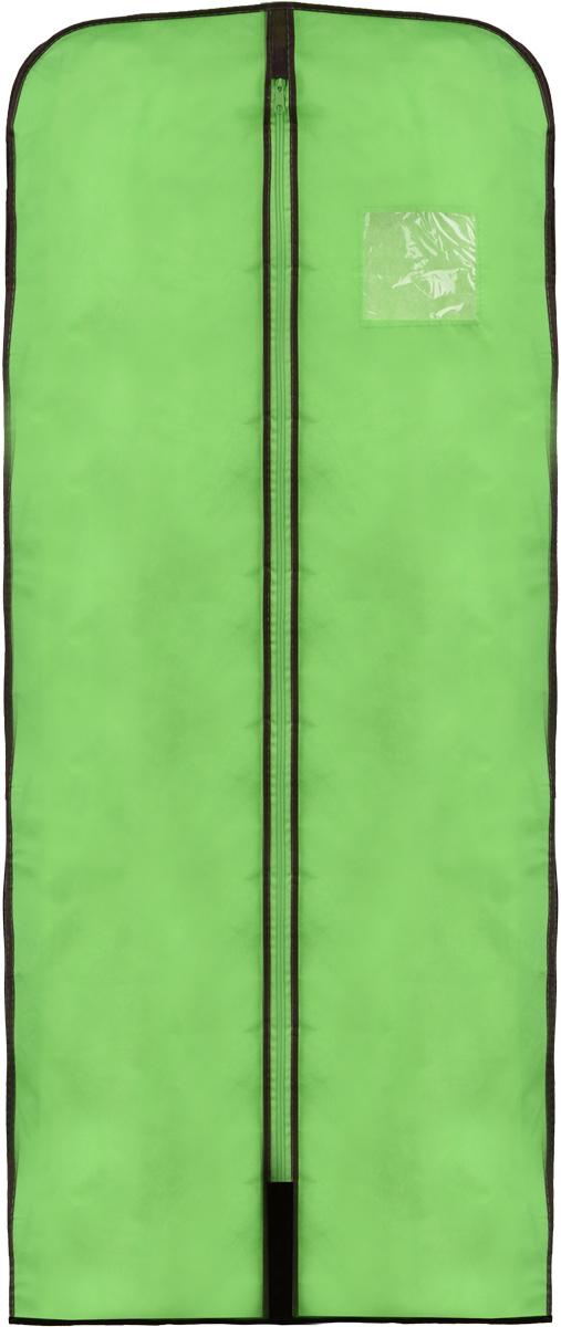 Чехол для меховой одежды Хозяюшка Мила, тканевый, цвет: зеленый, 60 х 137 см1092019Чехол для меховой одежды Хозяюшка Мила изготовлен из вискозы и оснащен застежкой-молнией. Особое строение полотна создает естественную вентиляцию: материал дышит и позволяет воздуху свободно проникать внутрь чехла, не пропуская пыль. Полиэтиленовое окошко позволяет увидеть, какие вещи находятся внутри. Широкая боковая вставка позволяет бережно хранить объёмную зимнюю одежду, такую как меховые шубы, дублёнки, пуховики. Чехол для меховой одежды Хозяюшка Мила защитит ваши вещи от повреждений, пыли, моли, влаги и загрязнений.