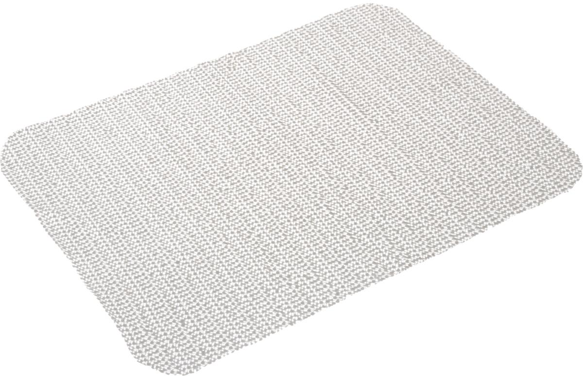 Салфетка противоскользящая Eva, цвет: серый, 40 х 30 см531-105Салфетка Eva, изготовленная из ПВХ, - замечательное приобретение для хозяек. С помощью данной салфетки предметы не скользят по стеклу, в ящиках, а кроме того, оставляют поверхность чистой.