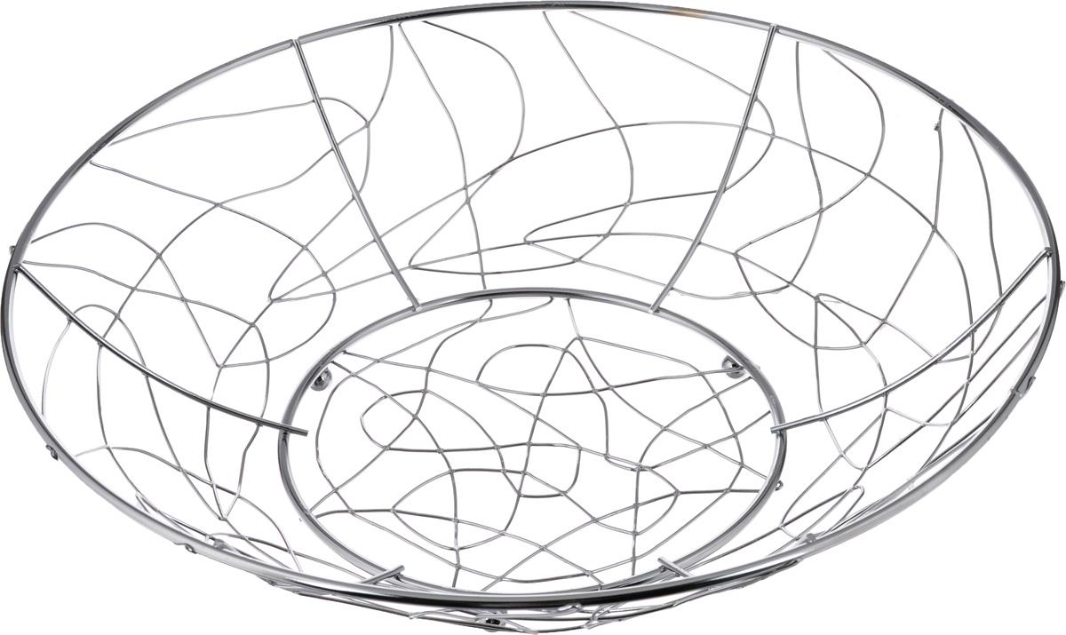 Фруктовница Olaff, круглая, диаметр 32 смVT-1520(SR)Оригинальная фруктовница Olaff, изготовленная из нержавеющей стали с хромированной поверхностью, идеально подходит для хранения и красивой сервировки любых фруктов. Современный дизайн фруктовницы идеально впишется в интерьер вашей кухни. Изделие рекомендуется мыть вручную с применением любых неабразивных моющих средств. Не рекомендуется использование металлических щеток для чистки.Диаметр (по верхнему краю): 32 см.
