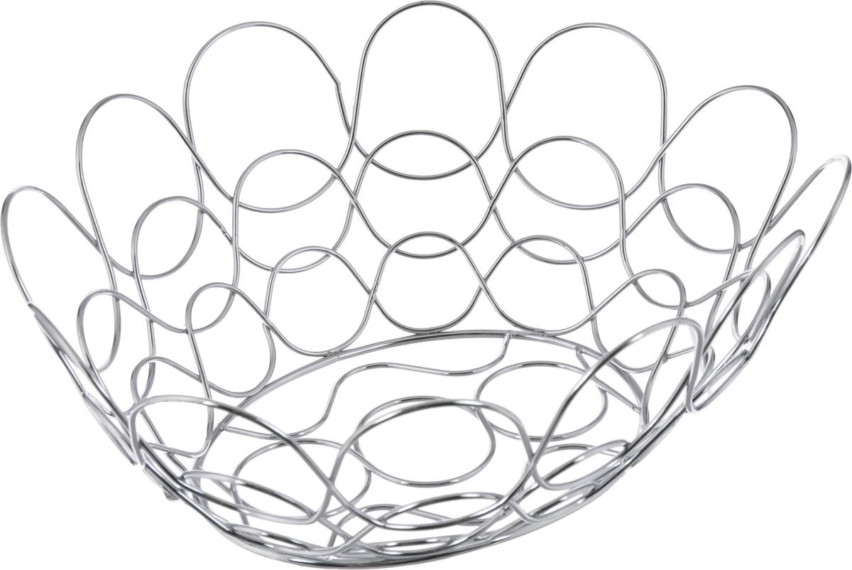 Фруктовница Guterwahl, овальная, 34 х 30 х 13,5 смVT-1520(SR)Оригинальная фруктовница Guterwahl, изготовленная из нержавеющей стали с хромированной поверхностью, идеально подходит для хранения и красивой сервировки любых фруктов. Современный дизайн фруктовницы идеально впишется в интерьер вашей кухни. Изделие рекомендуется мыть вручную с применением любых неабразивных моющих средств. Не рекомендуется использование металлических щеток для чистки.Размер (по верхнему краю): 34 х 30 см.