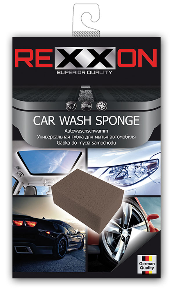 Губка для автомобиля Rexxon, универсальная, 195 х 120 х 70 мм80462Универсальная губка для автомобиля. Изготовлена из качественного поролона, впитывает большое количество влаги, не оставляет разводов.