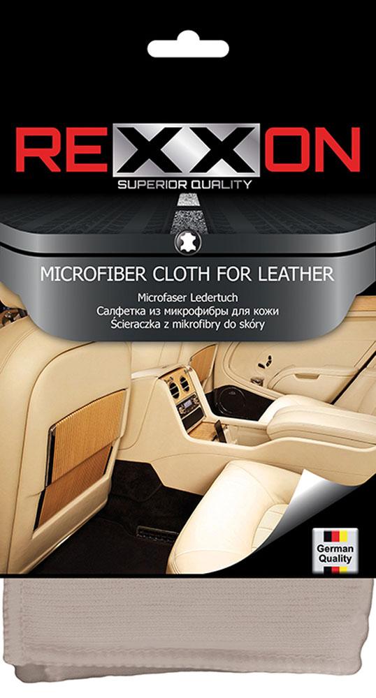 Салфетка Rexxon для кожаных поверхностей автомобиля, 35 х 35 см06008A7602Салфетка из микрофибры для кожаных поверхностей автомобиля. Цветная компактная упаковка.