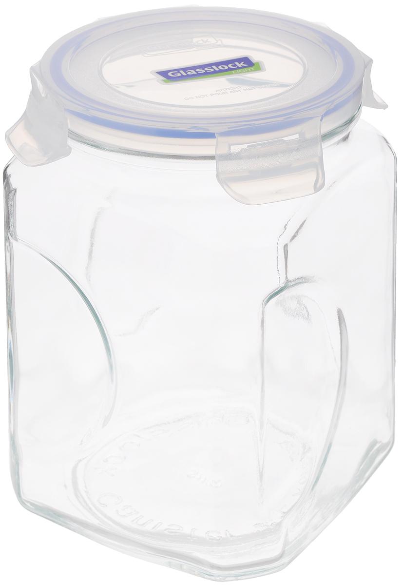 Контейнер для сыпучих продуктов Glasslock, 2 лVT-1520(SR)Контейнер Glasslock изготовлен из высококачественного закаленного ударопрочного стекла. Герметичная крышка, выполненная из пластика и снабженная уплотнительной резинкой, надежно закрывается с помощью четырех защелок. Изделие подходит для специй, чая, кофе, круп, сахара и соли и многого другого. Такой контейнер стильно дополнит интерьер кухни и поможет эффективно организовать пространство.Подходит для мытья в посудомоечной машине, хранения в холодильных и морозильных камерах.Диаметр контейнера (по верхнему краю): 11,5 см.Размер контейнера (с учетом крышки): 12 х 12 х 19 см.