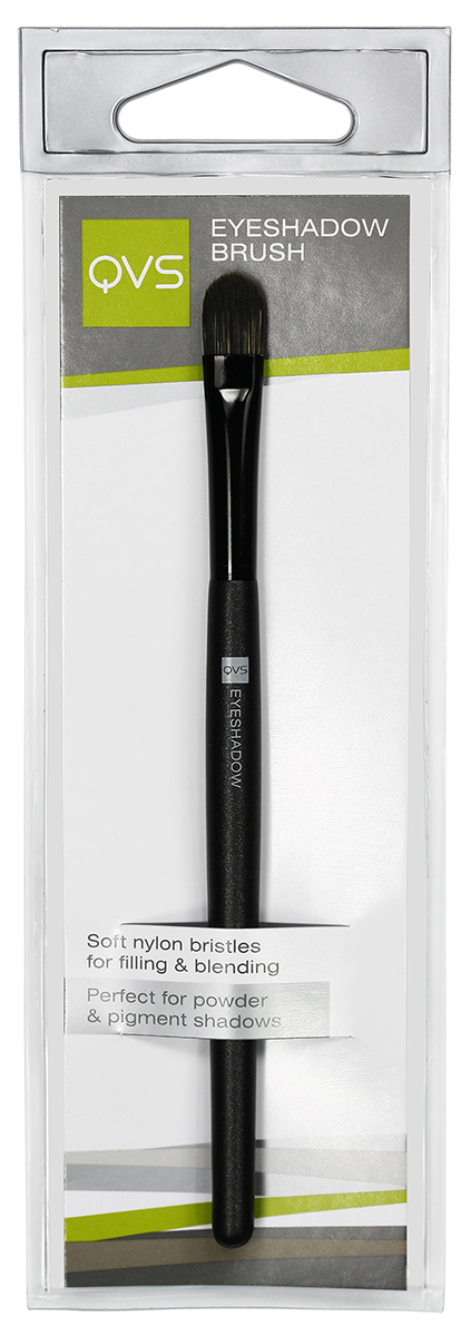 QVS Кисть для макияжа век из нейлоновых волокон19-5031Кисть для теней. Мягкая кисть для теней поможет быстро и равномерно нанести тени на веки или по контуру глаз и растушевать их. Закругленный кончик обеспечивает безупречно гладкое нанесение и прекрасно подходит для точечной коррекции макияжа. Способ применения: Окуните кисть в рассыпчатые или компактные тени, стряхните излишки. Наносите тени легкими движениями на всю поверхность век до достижения желаемого оттенка. Кисть идеально подходит для смешения и растушевки различных оттенков теней.