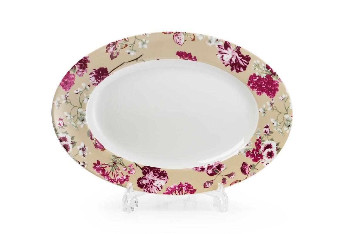Блюдо овальное La Rose des Sables Liberty, диаметр 35 см блюдо la rose des sables princier platine 23 5 см