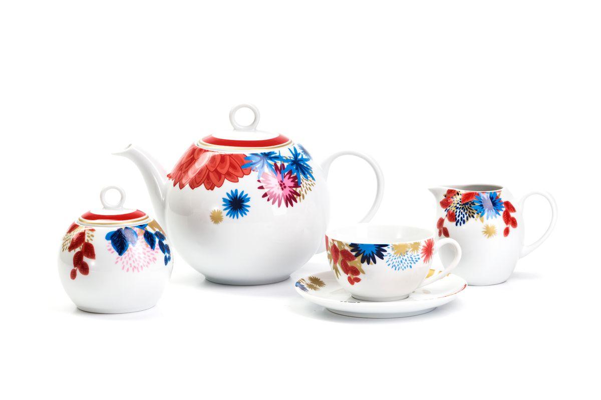 Сервиз чайный La Rose des Sables Ilionor, 15 предметов115510Можно использовать в СВЧ и посудомоечной машине.