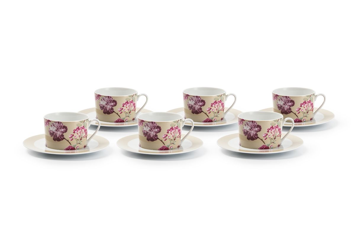 Набор чайных пар La Rose des Sables Liberty, 6 шт115510Можно использовать в СВЧ и посудомоечной машине.
