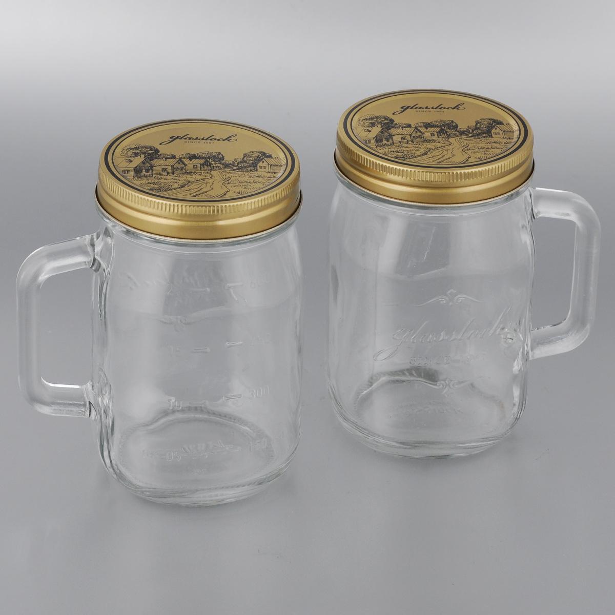 Набор банок для сыпучих продуктов Glasslock, 750 мл, 2 штSC-FD421004Банки для хранения Glasslock, изготовленные из прочного прозрачного стекла, оснащены металлическими крышками и удобными ручками. На стенках имеется мерная шкала. Изделия подходят для специй, чая, кофе, круп, сахара и соли и многого другого. Такие банки стильно дополнят интерьер кухни и помогут эффективно организовать пространство.Диаметр банки (по верхнему краю): 8 см.Диаметр основания банки: 7 см.Высота банки (с учетом крышки): 14,5 см.Ширина банки (с учетом ручки): 13 см.