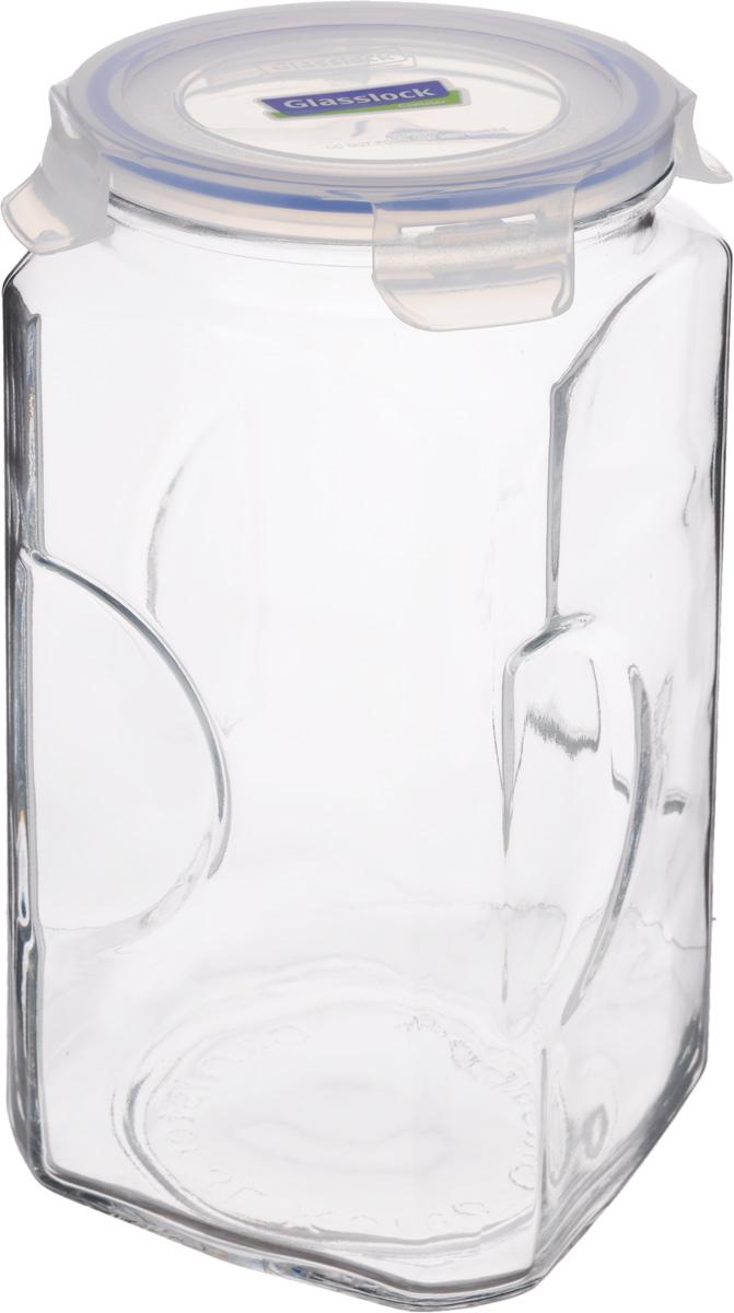 Контейнер для сыпучих продуктов Glasslock, 3 лVT-1520(SR)Контейнер Glasslock изготовлен из высококачественного закаленного ударопрочного стекла. Герметичная крышка, выполненная из пластика и снабженная уплотнительной резинкой, надежно закрывается с помощью четырех защелок. Изделие подходит для специй, чая, кофе, круп, сахара и соли и многого другого. Такой контейнер стильно дополнит интерьер кухни и поможет эффективно организовать пространство.Подходит для мытья в посудомоечной машине, хранения в холодильных и морозильных камерах.Диаметр контейнера (по верхнему краю): 11,5 см.Размер контейнера (с учетом крышки): 12 х 12 х 27 см.