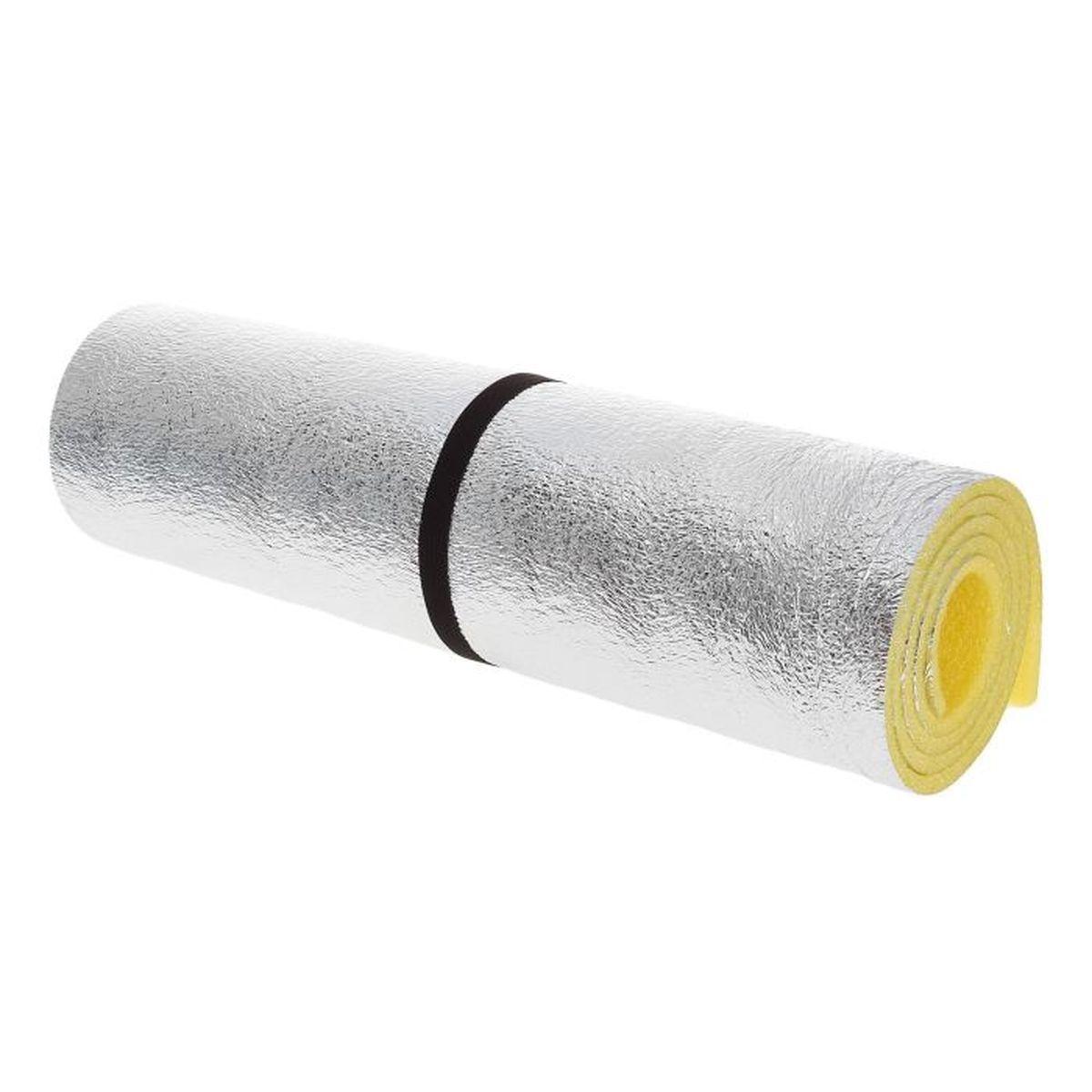 Коврик туристичекский, цвет: желтый, фольга, 180 х 60 х 1 см - Подушки, пледы, коврики