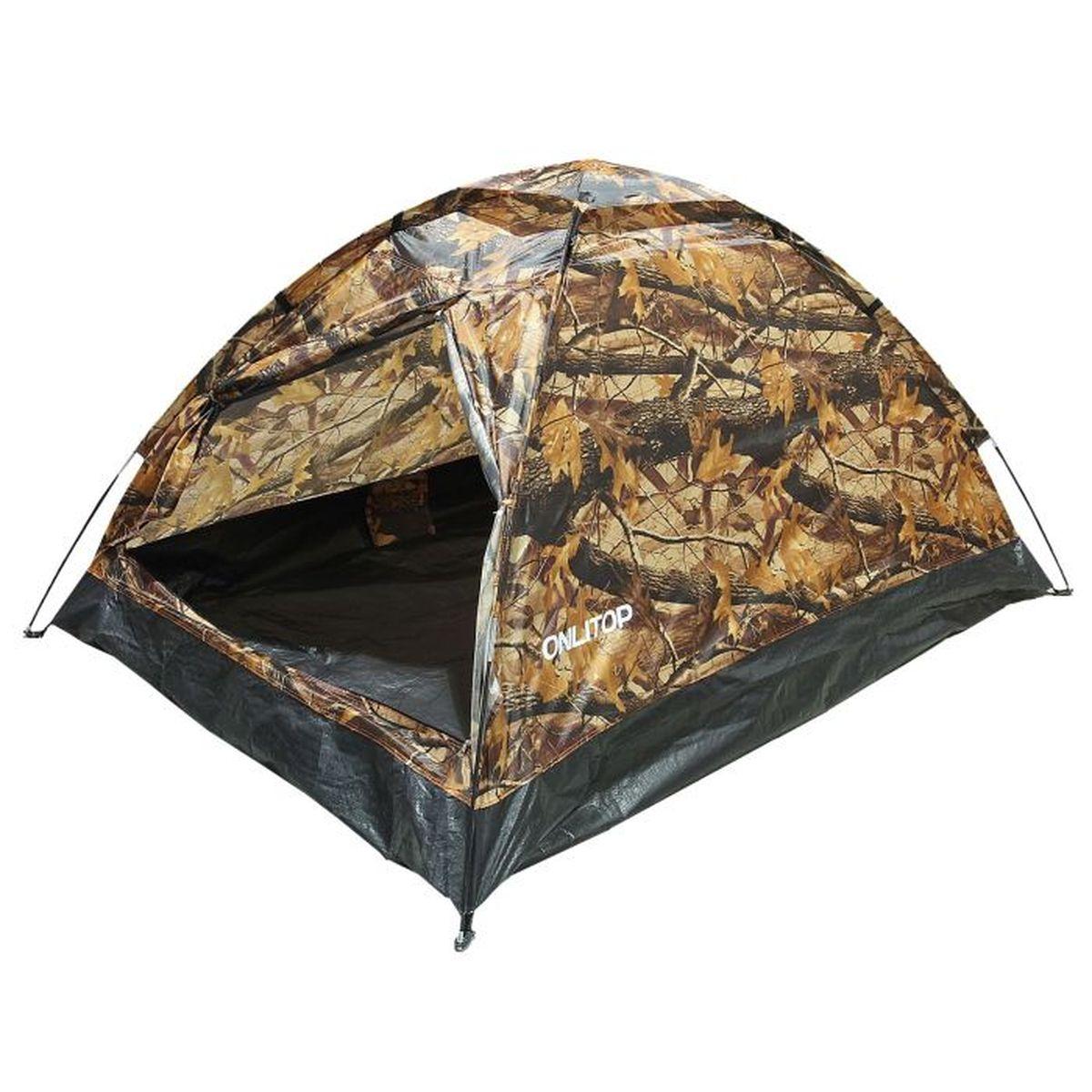 Палатка туристическая Onlitop SANDE II 2, цвет: хакиKOC2028LEDЕсли вы заядлый турист или просто любитель природы, вы хоть раз задумывались о ночёвке на свежем воздухе. Чтобы провести её с комфортом, вам понадобится отличная палатка, Она обеспечит безопасный досуг и защитит от непогоды и насекомых. Ткань рипстоп гарантирует длительную эксплуатацию палатки за счёт высокой прочности материала.