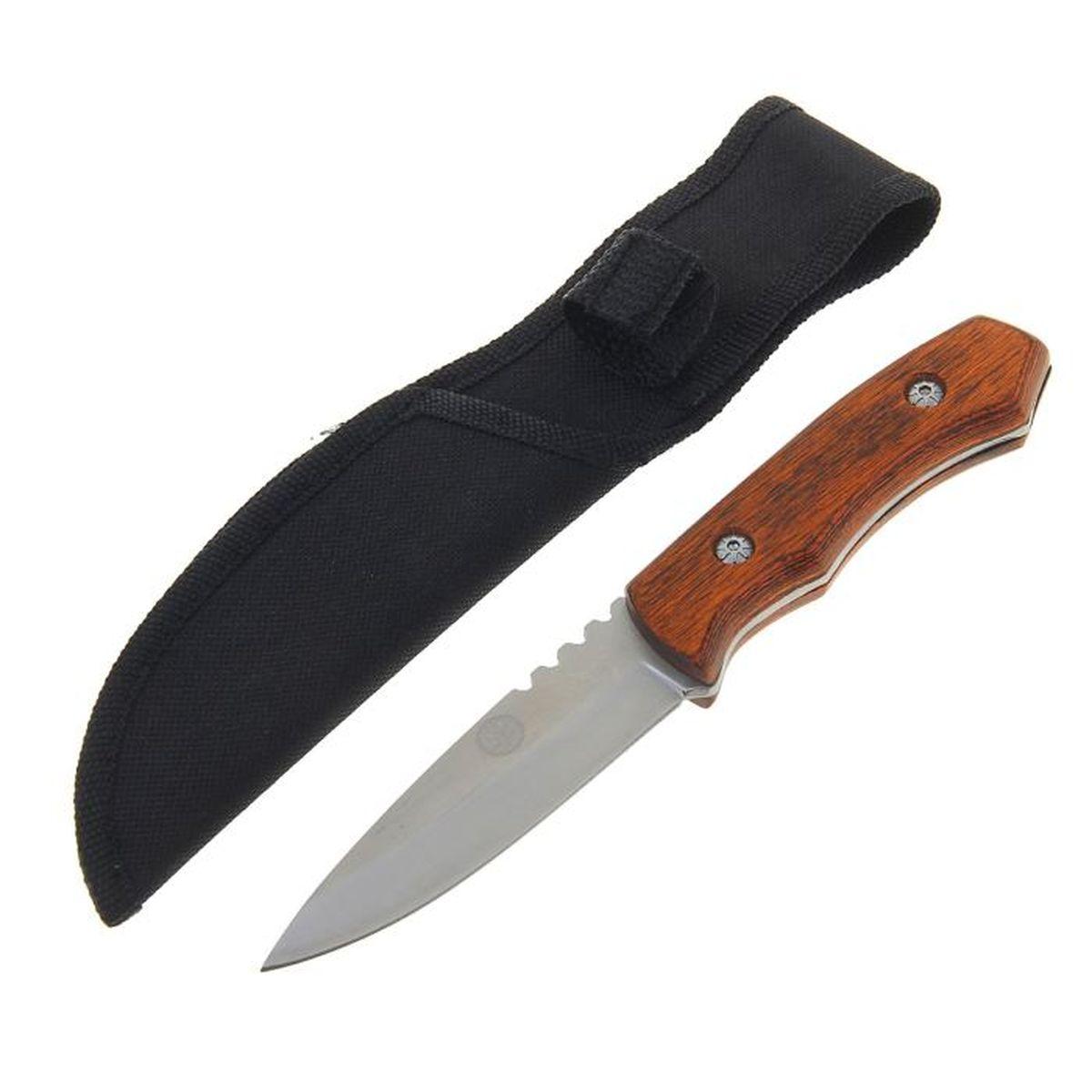 Нож разделочный Командор, длина лезвия 9,8 см. 12775821277582Лезвие ножа Командор выполнено из стали, рукоять - из дерева. Нож практически не подвержен износу и способен служить годами. Такой инструмент будет вашим постоянным спутником во время охоты или рыбалки.Нож - неотъемлемый атрибут настоящего мужчины. Издревле ножи и клинки вручались знатным особам за проявление отваги и чести на военной службе. Такие подарки очень ценились и становились семейными реликвиями. Сегодня нож - это прекрасный подарок, который подойдет любому мужчине.Длина лезвия: 9,8 см.Длина рукояти: 9,8 см.В комплекте чехол из текстиля.