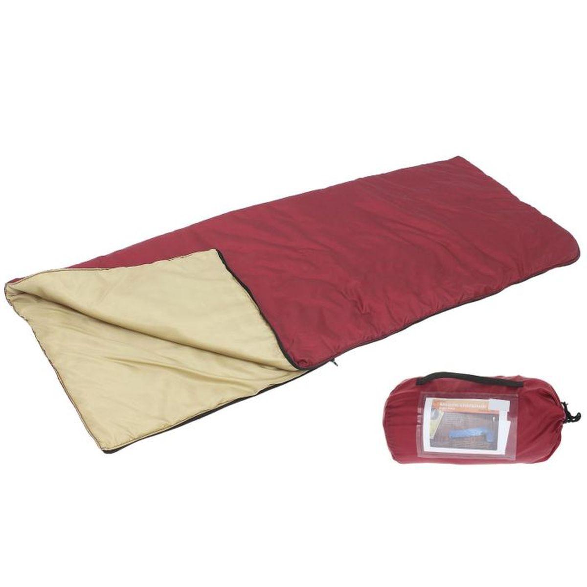 Спальный мешок Onlitop, цвет: красный, бежевый, правосторонняя молния95422-233-LeftКомфортный, просторный и очень теплый 3-х сезонный спальник предназначен для походов и для отдыха на природе не только в летнее время, но и в прохладные дни весенне-осеннего периода. В теплое время спальный мешок можно использовать как одеяло (в том числе и дома).