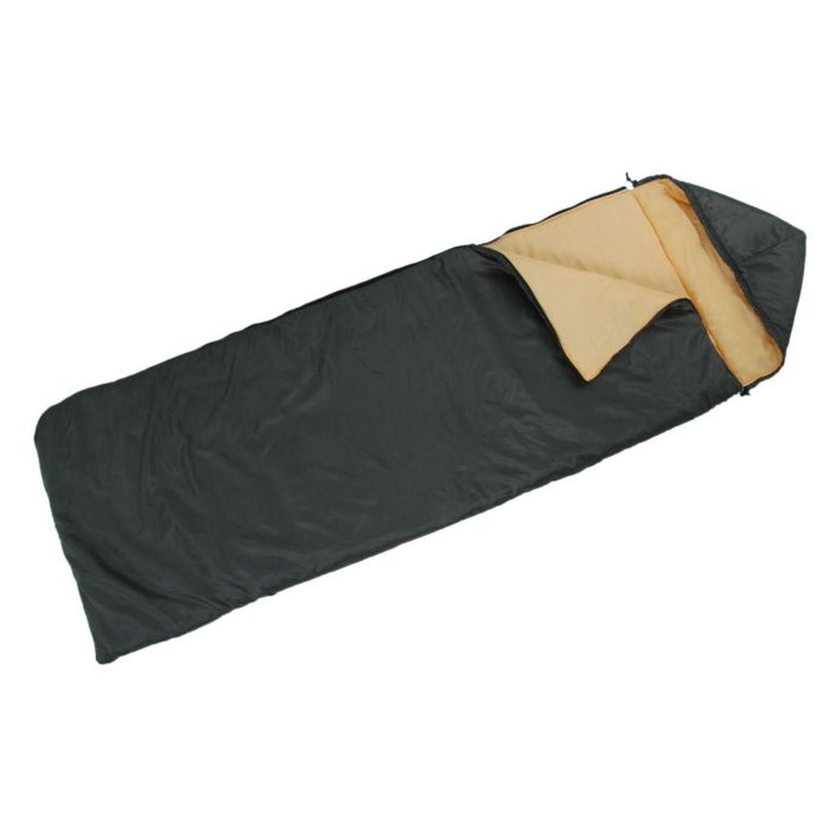 Спальный мешок Onlitop  Престиж , цвет: черный, бежевый, правосторонняя молния. 1344027 - Спальные мешки