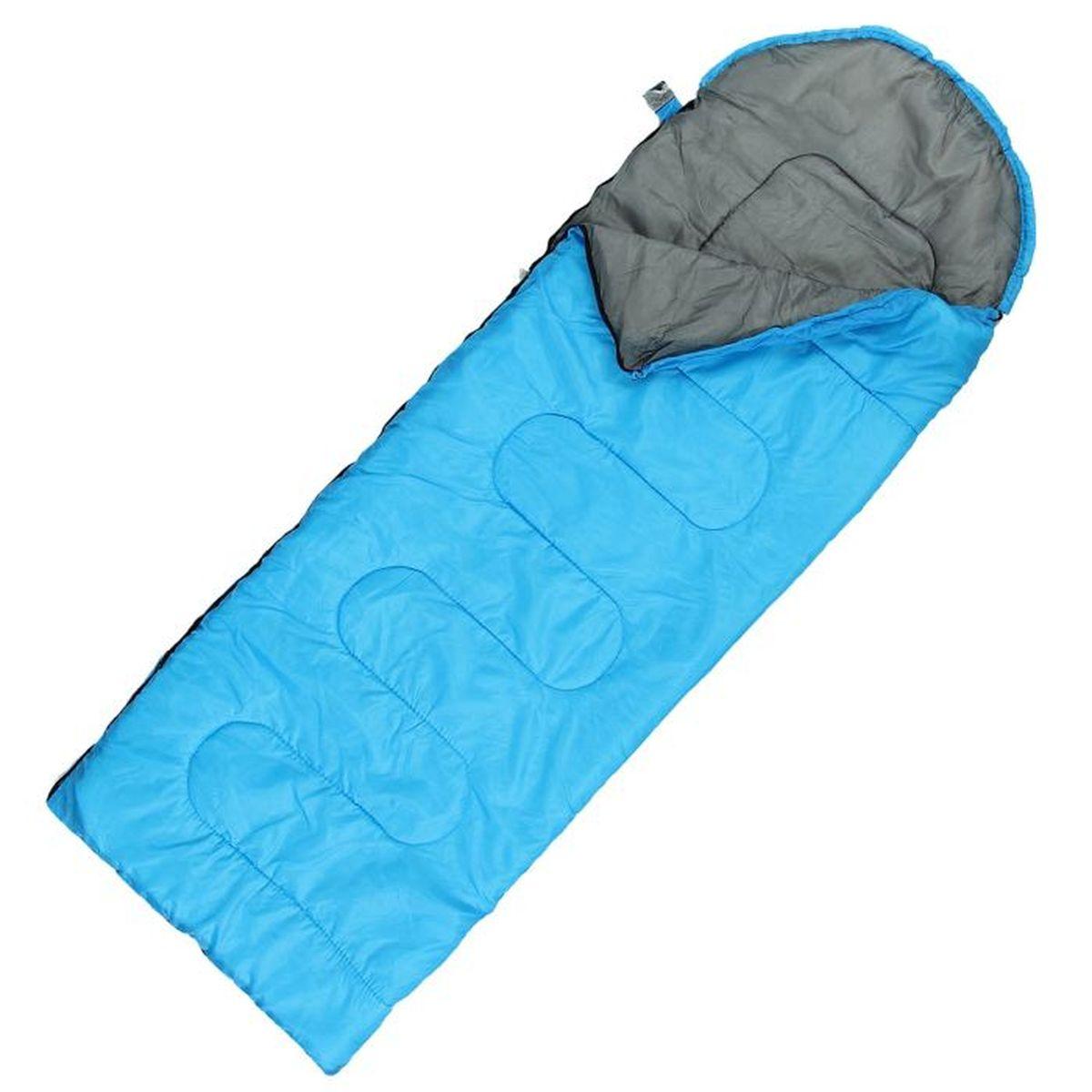 Спальный мешок Командор, цвет: голубой, правосторонняя молния спальный мешок woodland berloga 400 r правосторонняя молния цвет хаки
