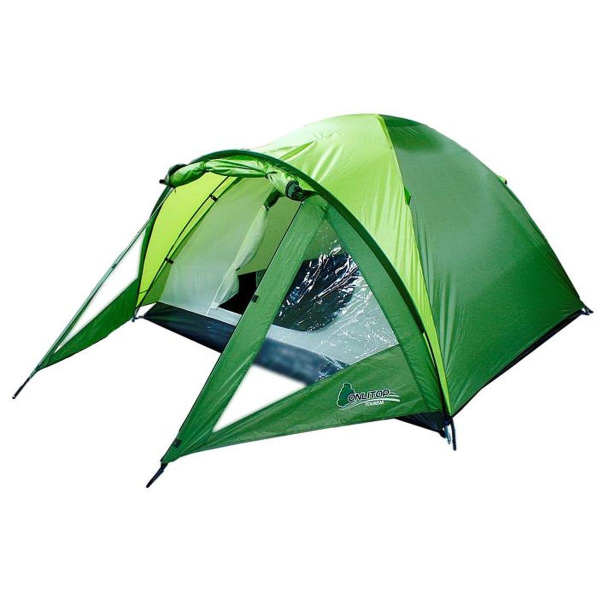 Палатка туристическая Onlitop TREKKER 3, цвет: зеленый67742Если вы заядлый турист или просто любитель природы, вы хоть раз задумывались о ночёвке на свежем воздухе. Чтобы провести её с комфортом, вам понадобится отличная палатка, Она обеспечит безопасный досуг и защитит от непогоды и насекомых. Ткань рипстоп гарантирует длительную эксплуатацию палатки за счёт высокой прочности материала.