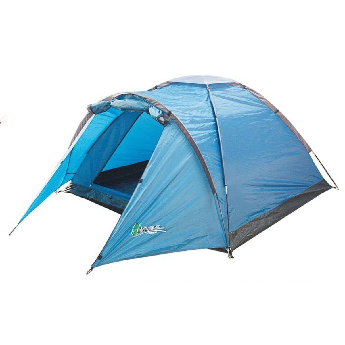 Палатка туристическая Onlitop VERAG 3, цвет: голубойперфорационные unisexЕсли вы заядлый турист или просто любитель природы, вы хоть раз задумывались о ночёвке на свежем воздухе. Чтобы провести её с комфортом, вам понадобится отличная палатка, Она обеспечит безопасный досуг и защитит от непогоды и насекомых. Ткань рипстоп гарантирует длительную эксплуатацию палатки за счёт высокой прочности материала.