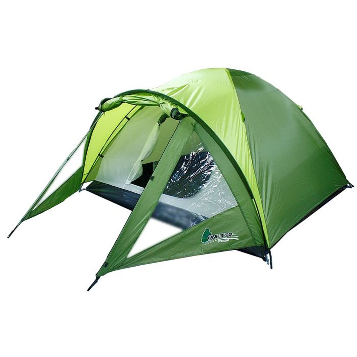 Палатка туристическая Onlitop Ottawa, 3-местная, цвет: зеленый776299Если вы любитель активного отдыха, а также ночевок на природе, то туристическая палатка Onlitop Ottawa - просто незаменимый предмет в вашем арсенале. С ней пребывание на свежем воздухе станет гораздо комфортнее. Палатка защитит от ветра, дождя, а также создаст безопасные условия ночью, ограждая от насекомых, змей и мелких грызунов. Объем палатки позволяет легко разместиться трем людям сразу. Ткань рипстоп, благодаря своей прочности, увеличивает срок эксплуатации изделия.Возьмите этот легкий инвентарь с собой куда угодно: положите палатку в багажник или несите ее за удобную ручку и наслаждайтесь досугом.Конструкция палатки:- 1 вход;- 1 вместительный передний тамбур для хранения вещей с двумя боковыми окнами.Внутреннее оснащение:- 2 вентиляционных окна;- 2 кармана для хранения вещей.Размер палатки: 300 x 180 x 130 см (тамбур, 90 см + комната, 210 см).