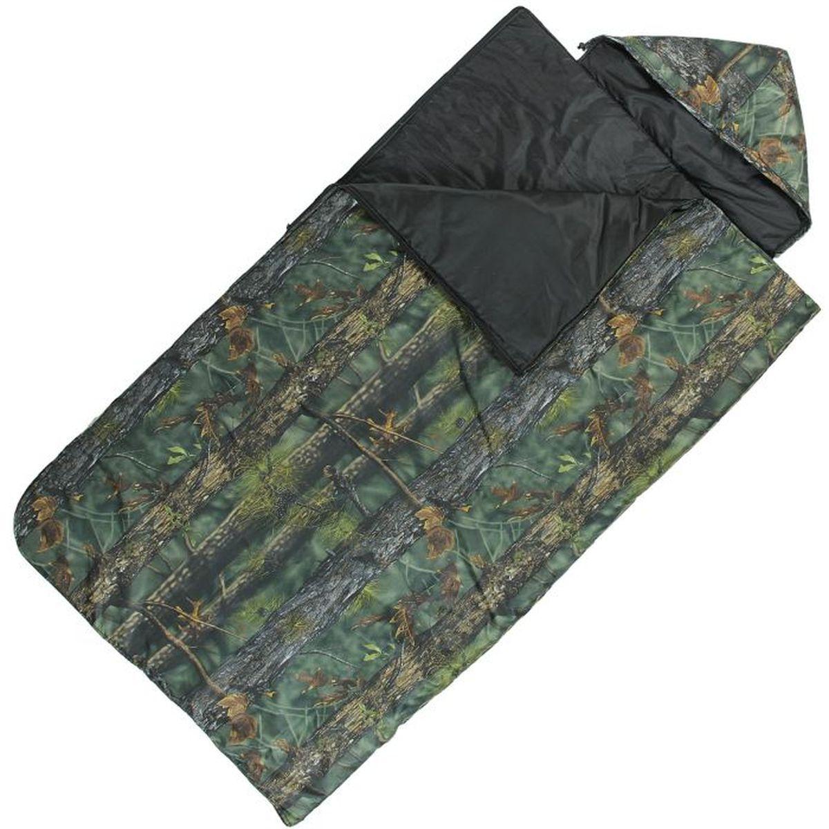 Спальный мешок Onlitop Богатырь, цвет: хаки, правосторонняя молния67742Комфортный, просторный и очень теплый 3-х сезонный спальник предназначен для походов и для отдыха на природе не только в летнее время, но и в прохладные дни весенне-осеннего периода. В теплое время спальный мешок можно использовать как одеяло (в том числе и дома).