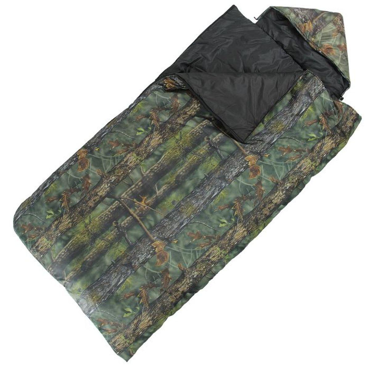 Мешок спальный Onlitop  Богатырь , цвет: хаки, правосторонняя молния. 915476 - Спальные мешки