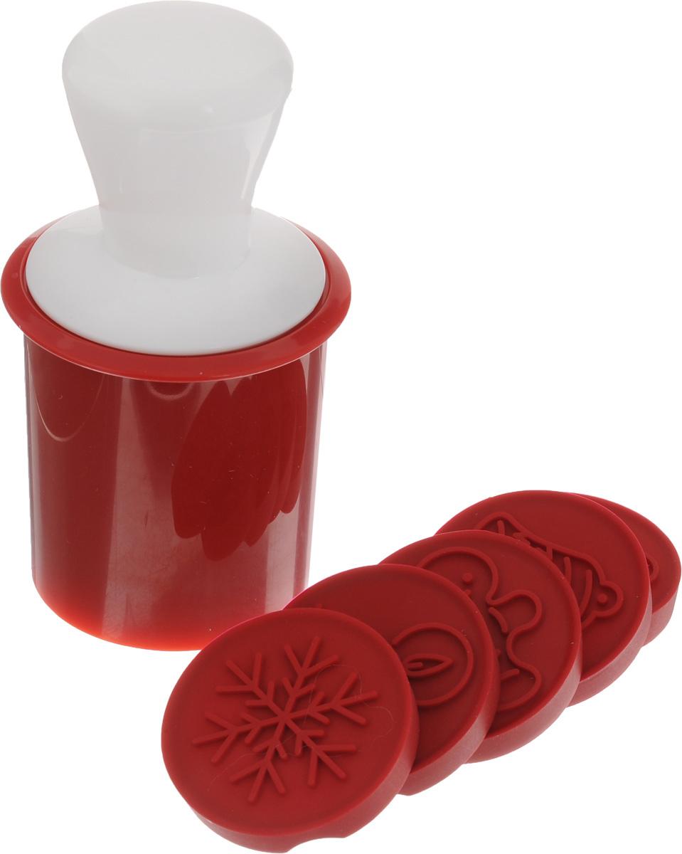 Печать для печенья Tescoma Delicia, с 6 орнаментами. 63011454 009312Печать Tescoma Delicia прекрасно подходит для оригинального украшения печенья. Набор включает печать, 6 оригинальных легко извлекаемых орнаментов и круглую формочку для вырезания. Орнаменты хранятся в контейнере печати. Предметы набора изготовлены из высококачественной прочной пластмассы и силикона. Этот элегантный комплект позволяет сделать идеальное домашнее печенье. Можно мыть в посудомоечной машине. Размер печати: 5,5 х 5,5 х 12,5 см. Диаметр орнамента: 4,5 см. Диаметр формочки для вырезания: 5,6 см. Высота формочки для вырезания: 7 см.