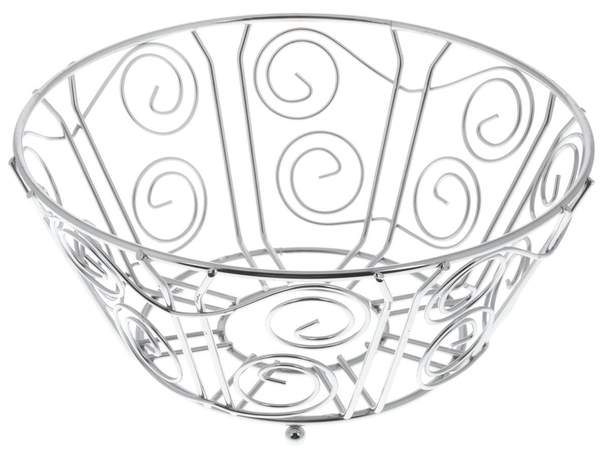 Фруктовница Olaff, круглая, диаметр 25 смVT-1520(SR)Оригинальная фруктовница Olaff, изготовленная из нержавеющей стали с хромированной поверхностью, идеально подходит для хранения и красивой сервировки любых фруктов. Современный дизайн фруктовницы идеально впишется в интерьер вашей кухни. Изделие рекомендуется мыть вручную с применением любых неабразивных моющих средств. Не рекомендуется использование металлических щеток для чистки.Диаметр (по верхнему краю): 25 см.Высота: 11,5 см.
