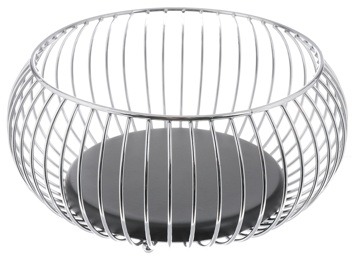 Фруктовница Olaff, круглая, диаметр 22 смFS-91909Оригинальная фруктовница Olaff, изготовленная из нержавеющей стали с хромированной поверхностью, идеально подходит для хранения и красивой сервировки любых фруктов. Современный дизайн фруктовницы идеально впишется в интерьер вашей кухни. Изделие рекомендуется мыть вручную с применением любых неабразивных моющих средств. Не рекомендуется использование металлических щеток для чистки.Диаметр (по верхнему краю): 22 см.Высота: 13 см.