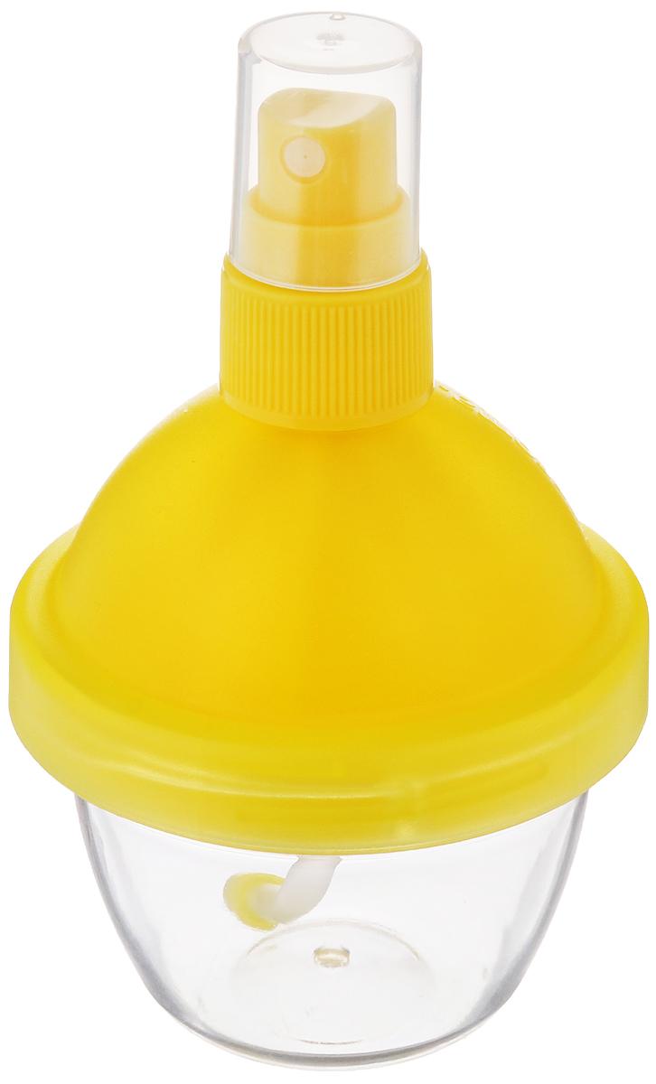 Распылитель лимонного сока Tescoma Vitamino, с соковыжималкой, цвет желтый642770_желтыйРаспылитель Tescoma Vitamino отлично подходит для добавки свежего лимонного сока в салаты, рыбные блюда, блюда, приготовленные на гриле, жареные блюда. Он оснащен соковыжималкой, предназначенной для удобного выжимания сока из лимонов и лайма.Изделие выполнено из высококачественного прочного пластикаСок в распылителе можно хранить в холодильнике.Высота: 11,5 см.Объем: 90 мл.