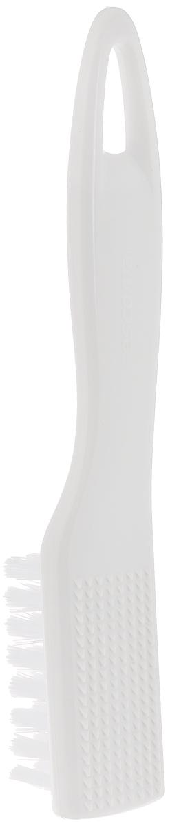 Щетка для чистки овощей Tescoma Presto, цвет: белый, длина 18 см420222Щетка Tescoma Presto, выполненная из прочного пластика, отлично подходит для очистки картофеля, корнеплодов, фруктов, грибов.Изделие оснащено скребком для удаления грязи.Нельзя мыть в посудомоечной машине.Размер щетки: 18 х 3 х 3 см.