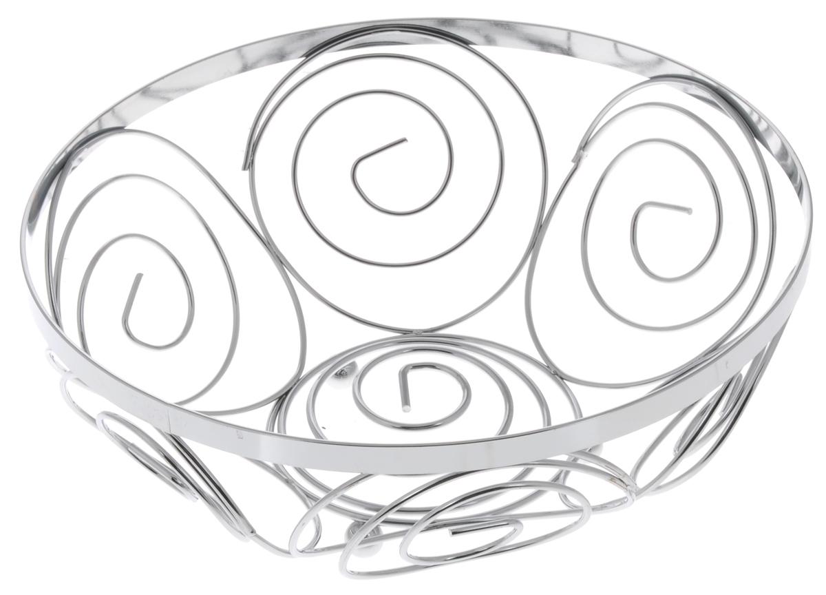Фруктовница Guterwahl, круглая, диаметр 23 см. YSH-004-5VT-1520(SR)Оригинальная фруктовница Guterwahl, изготовленная из нержавеющей стали с хромированной поверхностью, идеально подходит для хранения и красивой сервировки любых фруктов. Современный дизайн фруктовницы идеально впишется в интерьер вашей кухни. Изделие рекомендуется мыть вручную с применением любых неабразивных моющих средств. Не рекомендуется использование металлических щеток для чистки.Диаметр: 23 см.Высота: 9,5 см.