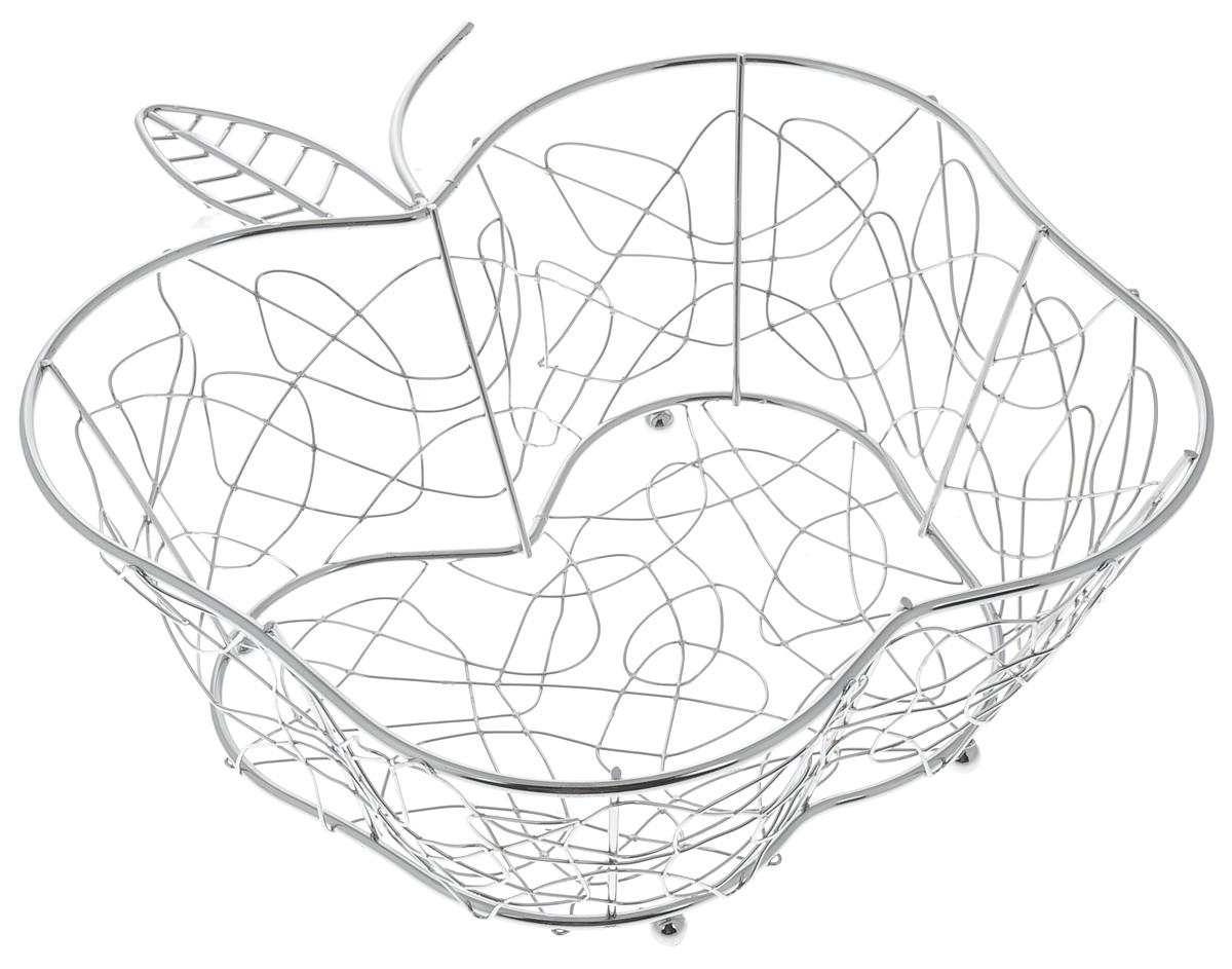 Фруктовница Guterwahl Яблоко, фигурная, 29 х 27 х 10,5 смVT-1520(SR)Оригинальная фруктовница Guterwahl Яблоко,изготовленнаяиз нержавеющей стали с хромированнойповерхностью, идеально подходит для хранения икрасивой сервировки любыхфруктов. Современный дизайн фруктовницыидеально впишется в интерьервашей кухни. Изделие рекомендуется мыть вручную сприменением любых неабразивных моющихсредств. Нерекомендуется использование металлическихщеток для чистки.Размер (по верхнему краю): 29 х 27 см.Высота: 10,5 см.