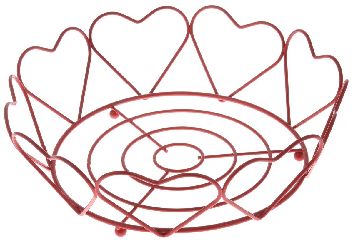 Фруктовница Olaff Сердце, круглая, диаметр 23 смVT-1520(SR)Оригинальная фруктовница Olaff Сердце, изготовленная из нержавеющей стали, идеально подходит для хранения и красивой сервировки любых фруктов. Современный дизайн фруктовницы идеально впишется в интерьер вашей кухни. Изделие рекомендуется мыть вручную с применением любых неабразивных моющих средств. Не рекомендуется использование металлических щеток для чистки.Диаметр (по верхнему краю): 23 см.Высота: 7 см.
